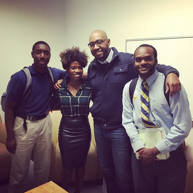 Shana, Willie, and two scholars